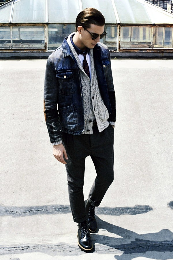 River Island Holloway Road A/W13 Lookbook Denim Jacket Cardigan Knitwear Jeans