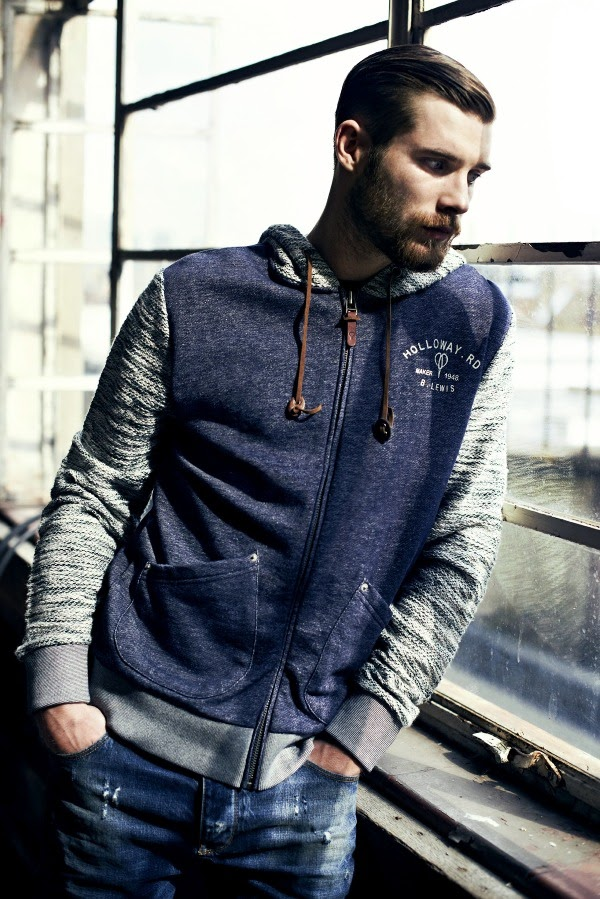 River Island Holloway Road A/W13 Lookbook Knitwear Hoodie Casual