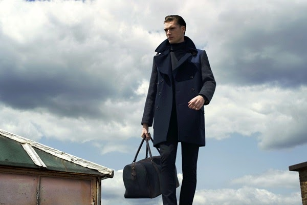 River Island Holloway Road A/W13 Lookbook Heritage Menswear Long Wool Coat